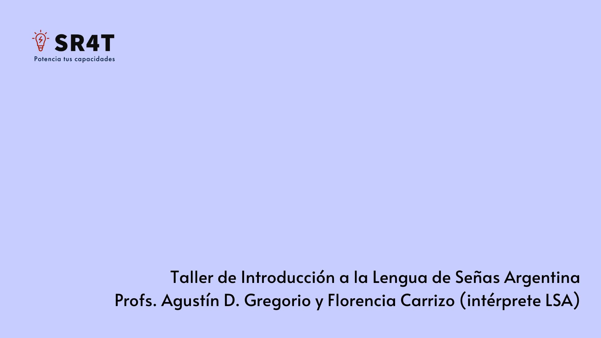 Cartel promocional sobre el curso de Lengua de Señas Argentina